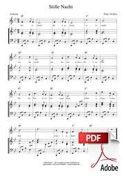 Stille Nacht Noten PDF